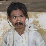 Попрошайка в Мьянме Стоковые Изображения