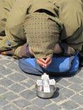 Попрошайка на улице Стоковая Фотография RF