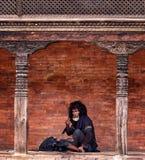 Попрошайка Непал Стоковые Фото