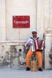 попрошайка accordionist Стоковая Фотография