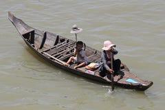 попрошайки Камбоджа Стоковое Изображение RF