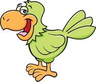 Попугай мультфильма счастливый стоковое изображение rf