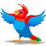 Попугай с крылами Иллюстрация вектора