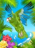 Попугай Puerto Rican Стоковое Фото