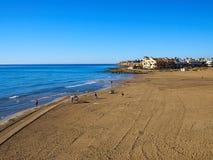 Популярная Коста Orihuela пляжа Zenia Ла назначения перемещения лета стоковое фото rf