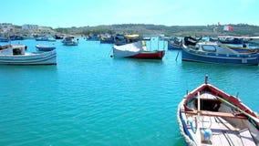 Популярное туристское назначение в Мальте сток-видео