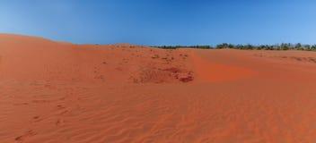 Популярные красные песчанные дюны в Ne Mui, Вьетнаме Стоковое Изображение RF