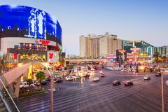 Популярная и толпить область в Лас-Вегас стоковое изображение rf