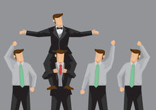 Популярная иллюстрация вектора человека и шаржа сторонников Стоковая Фотография
