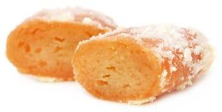 Популярные бангладешские Sweetmeats Chamcham стоковые фото