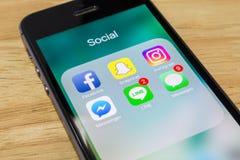 Популярные социальные применения сети Стоковая Фотография RF