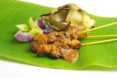 Популярный цыпленок зажаренный Малайзией Satay Стоковые Изображения