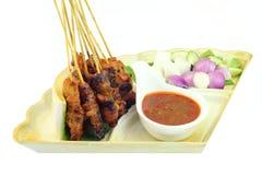 Популярный цыпленок зажаренный Малайзией Satay Стоковые Изображения RF