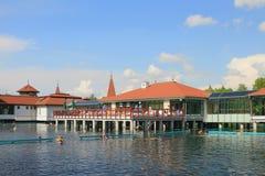 Популярный balneal курорт на озере Heviz, Венгрии Стоковые Фото