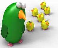 попыгай мамы цыпленоков Стоковые Фото