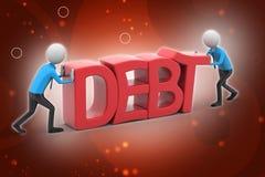 попытка людей 3d для избежания задолженности Стоковые Фотографии RF