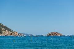 поплавайте вдоль побережья испанские языки Стоковые Фото