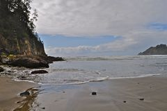 поплавайте вдоль побережья Орегон стоковая фотография