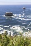 поплавайте вдоль побережья Орегон Стоковые Фотографии RF