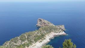 поплавайте вдоль побережья полуостров sa малую Испанию foradada mallorca на запад Стоковая Фотография