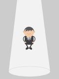 Поплавок бизнесмена Концепция конспекта персонажа из мультфильма иллюстрации вектора Doodle Стоковые Фото