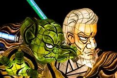 Поплавок парада Nebuta Звездных войн стоковое фото rf