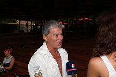 поп-звезда oleg gazmanov Стоковое фото RF