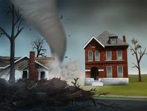 поражает торнадо Стоковое Изображение