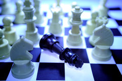 поражение шахмат стоковое фото