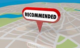 Порекомендованный обзор Pin карты магазина положения Стоковые Изображения