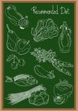 Порекомендованная диета Стоковое Изображение RF