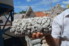 Пористый бетон стоковое фото