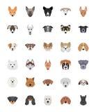 Породы установленных значков собак плоских бесплатная иллюстрация