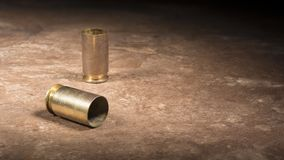 Порожные кожухи от semi автоматического личного огнестрельного оружия 45 Стоковое Изображение RF