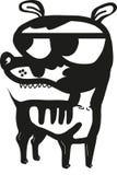 Порочная собака стоковое фото rf