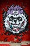 Порочные граффити панды Стоковое Изображение RF