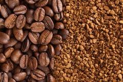 порошок момента времени кофе фасолей Стоковая Фотография RF