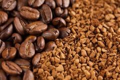 порошок момента времени кофе фасолей Стоковая Фотография