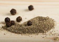 Порошок черного перца Стоковое Фото