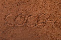 Порошок Cococa стоковые изображения rf