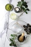 Порошок matcha зеленого чая Стоковые Фотографии RF