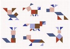 Порода выслеживает Tangram бесплатная иллюстрация