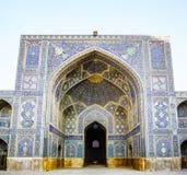 Портал традиционной мечети Jameh isfahan - Ирана Стоковое фото RF