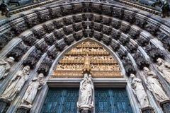 портал cologne собора Стоковая Фотография RF
