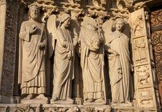 портал paris notre dame собора Стоковое Фото