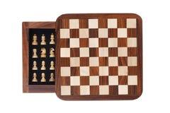 портативная машинка карманн шахмат доски Стоковое фото RF