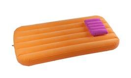 Портативные воздушный матрас и подушка Стоковое Изображение