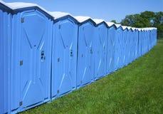 Портативные туалеты стоковая фотография rf