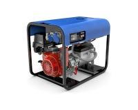 Портативный генератор изолированный на белой предпосылке Стоковые Фотографии RF