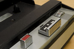 Портативный компактный рекордер игрока кассеты Стоковое фото RF